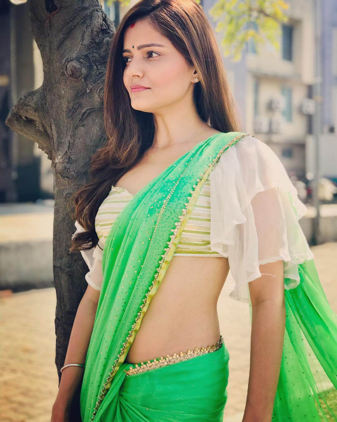 Bewitching Butterfly Sleeves Saree Blouse Designs by Rubina Dilaik
