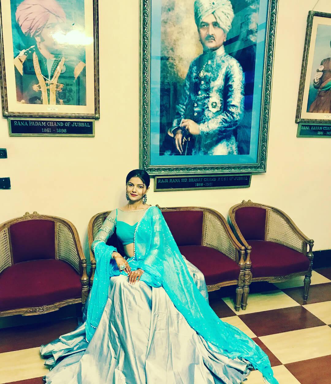 Saree Blouse Design by Rubina Dilaik