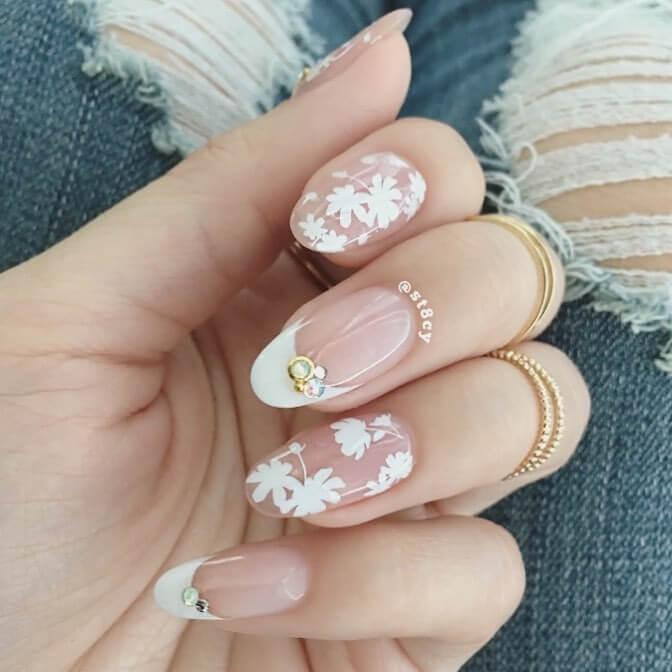 Gel Nail art for medium nails