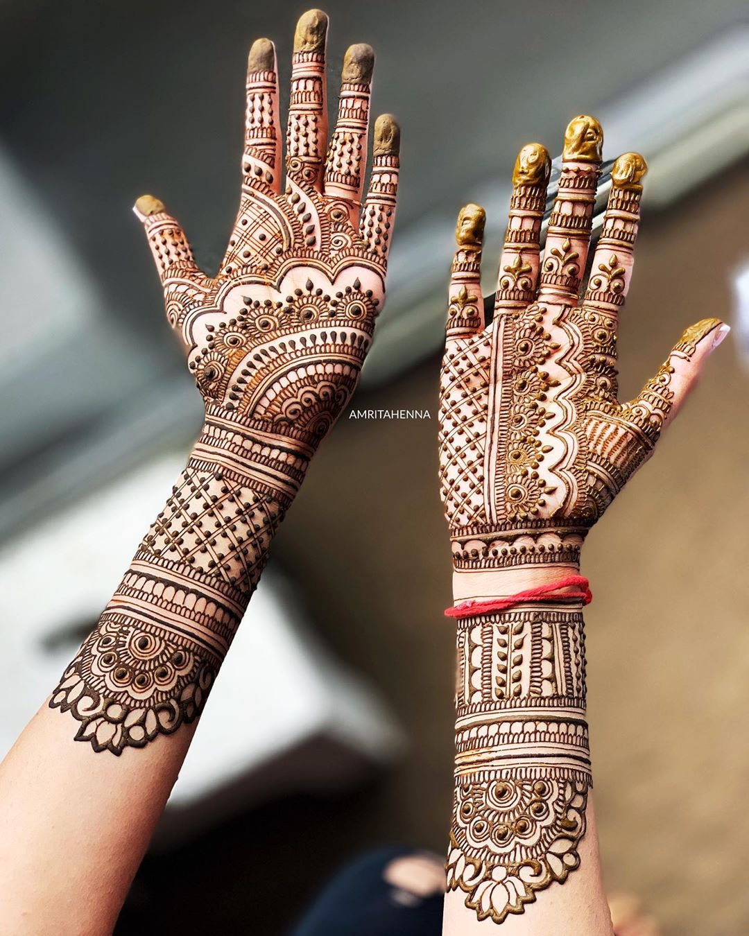Prepossessing Marwari style henna for perfect brides