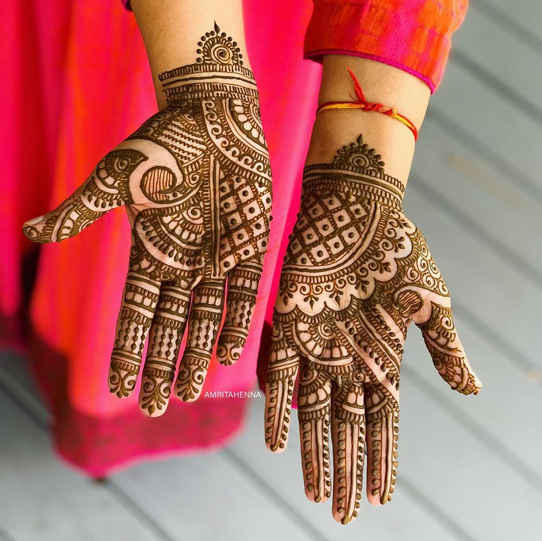 Enchanting Marwari Style henna for aesthetic brides