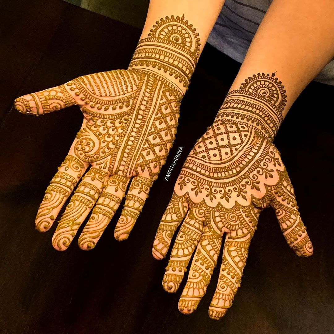 Captivating Marwari style henna for harmonious brides