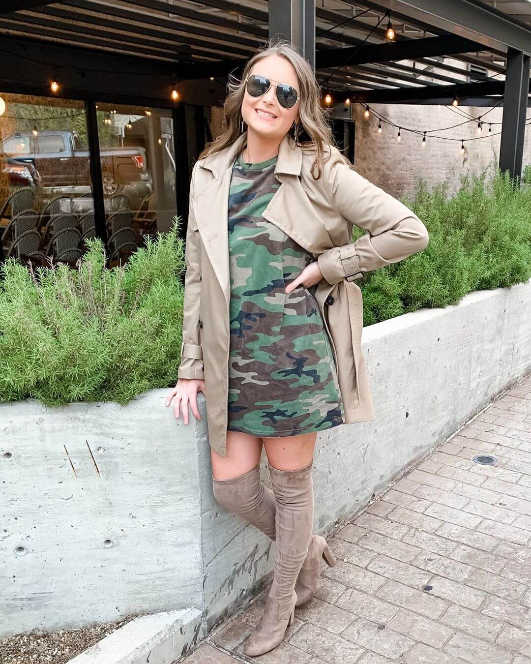 Rocking the camouflage with a Trench coat