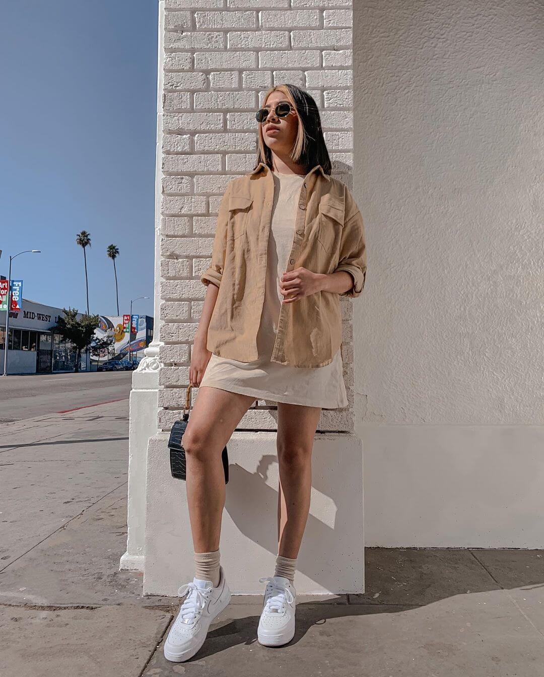 Slay it with a shirt styling a T-shirt dress