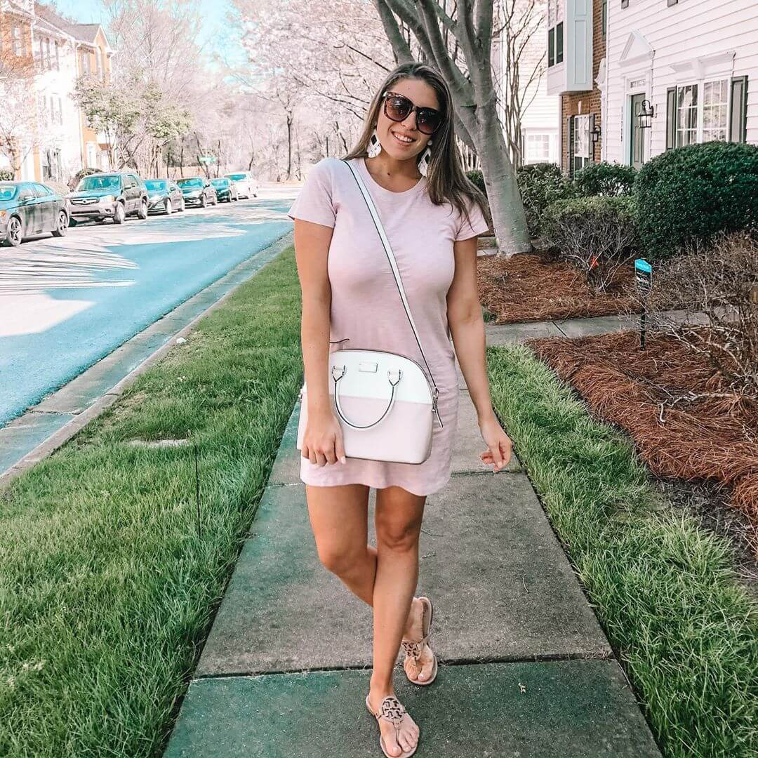 Accessorize a tshirt dress in different ways