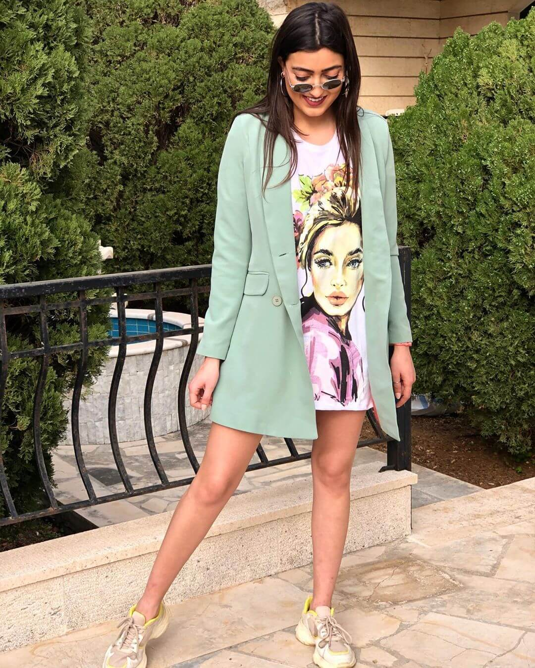 Pair the tshirt dress with an Over Coat