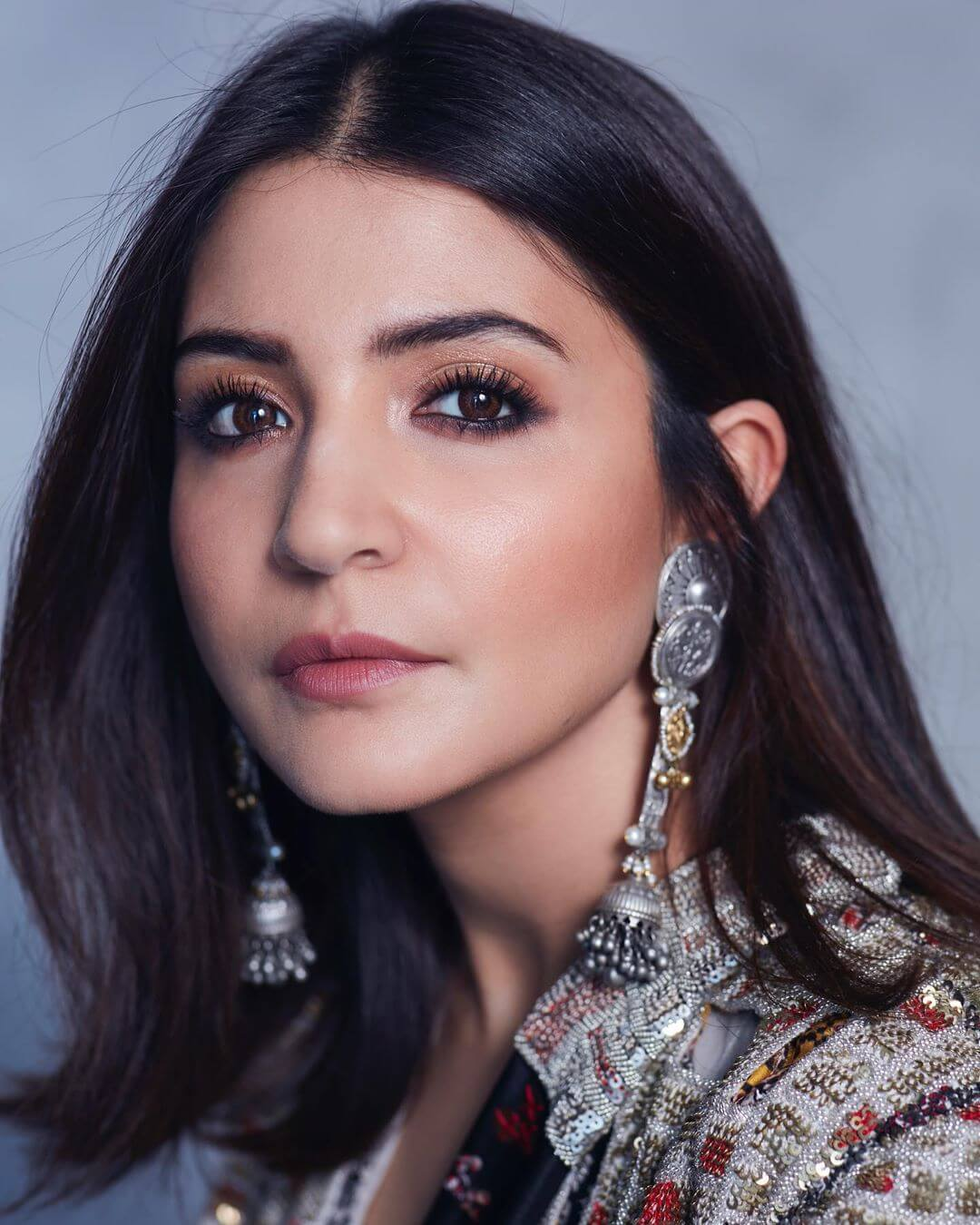 Metal Drop Earrings With Jhumkis Anushka Sharma's Earring Designs