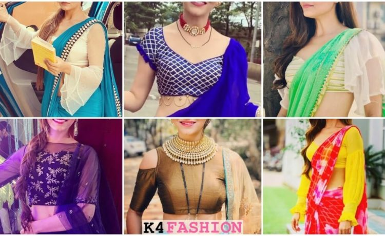 New stylish designer saree blouse design ideas inspired by Rubina