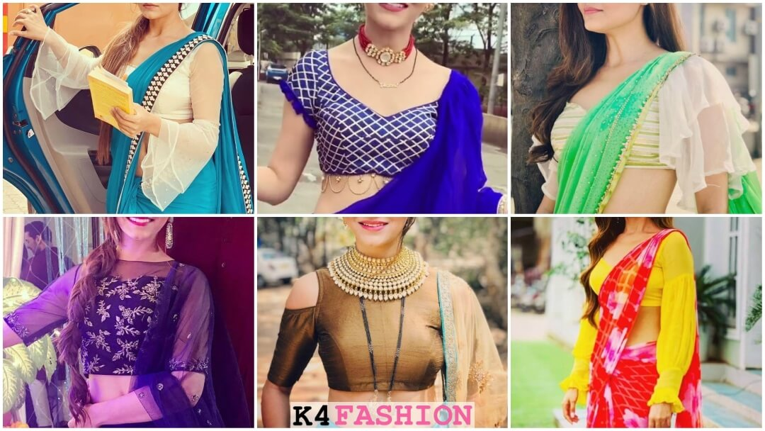 New stylish designer saree blouse design ideas inspired by Rubina