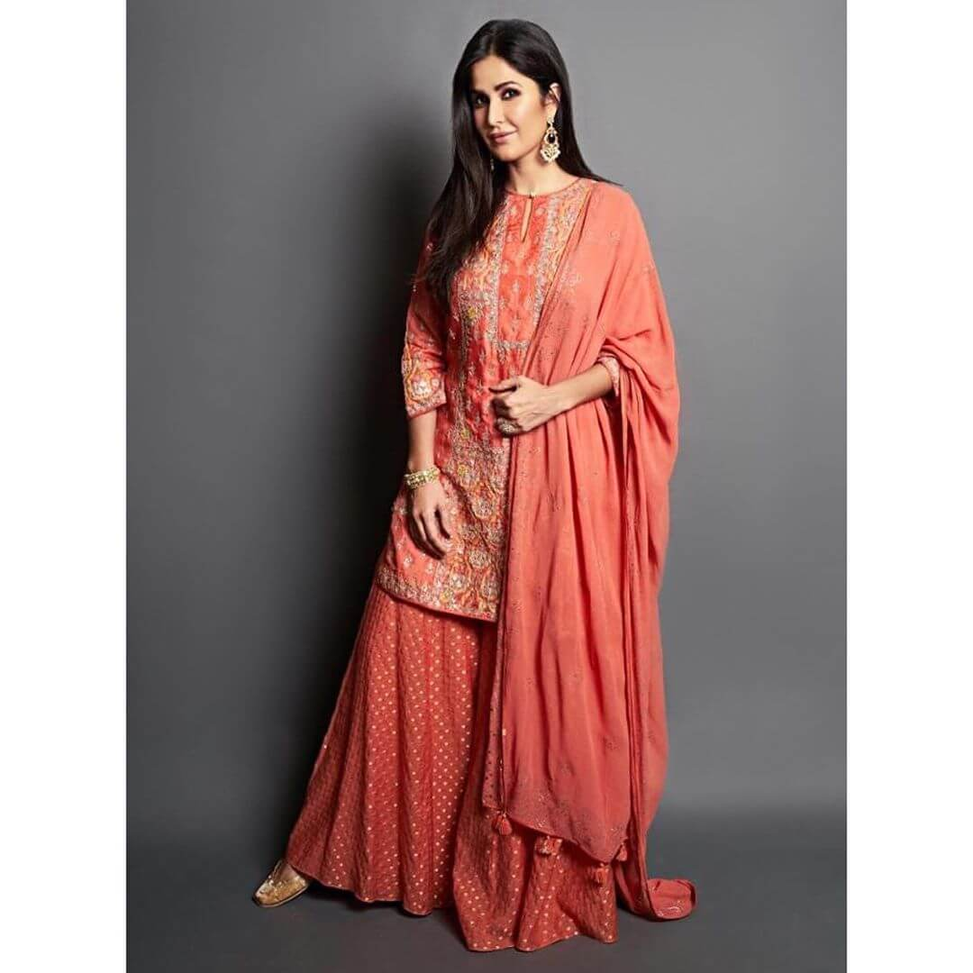 Katrina Kaif Radiant Red Suits To Wear On A Sangeet