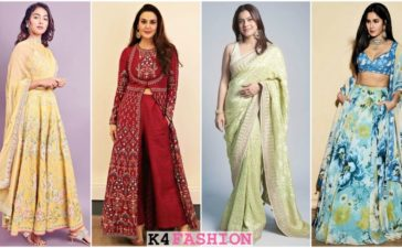 Famous Celebrities wearing Indian Designer Clothes