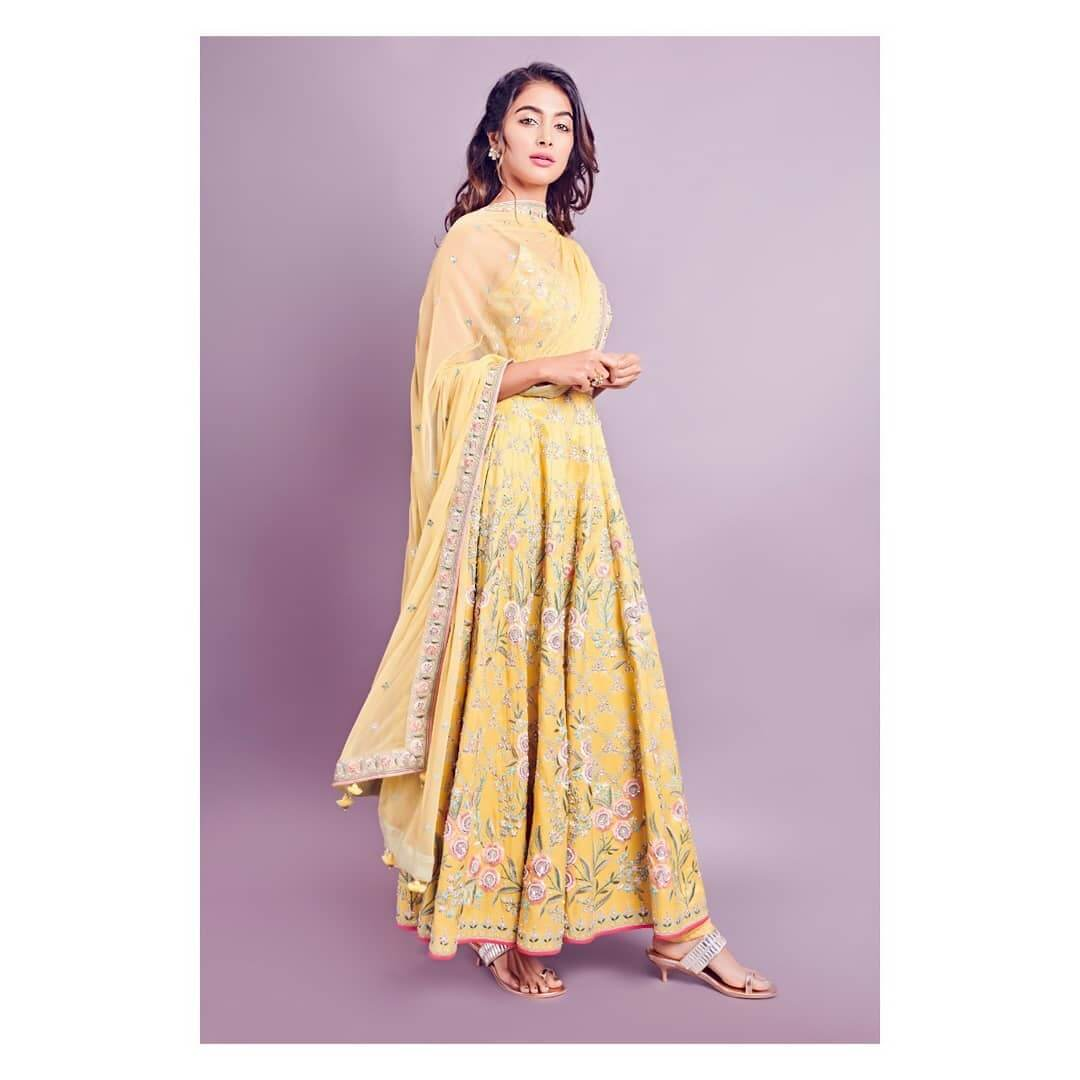 Pooja Hegde The Brightness Of Yellow For The Haldi Functions