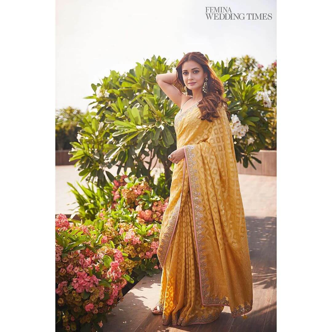 Dia Mirza The Brightness Of Yellow For The Haldi Functions