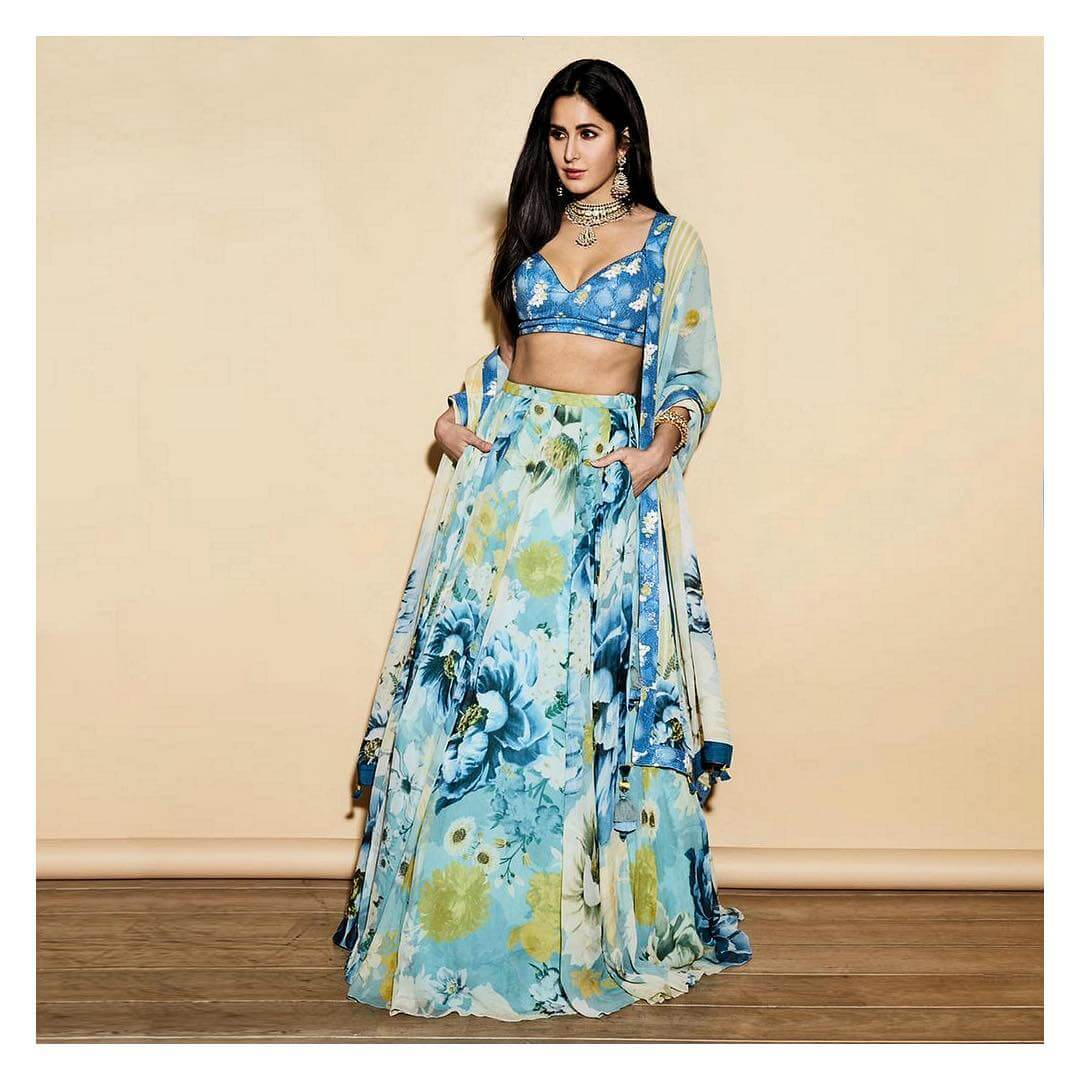 Katrina Kaif Floral Prints And Pastel Colors For Day Weddings