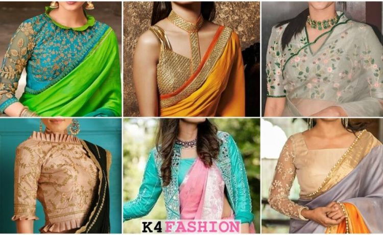Designer Blouse Front Neck Designs To Style Your Sarees K4 Fashion