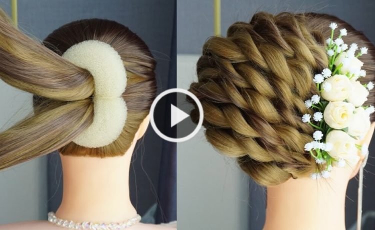 French Roll Hairstyle Juda Style. Hair Tutorial