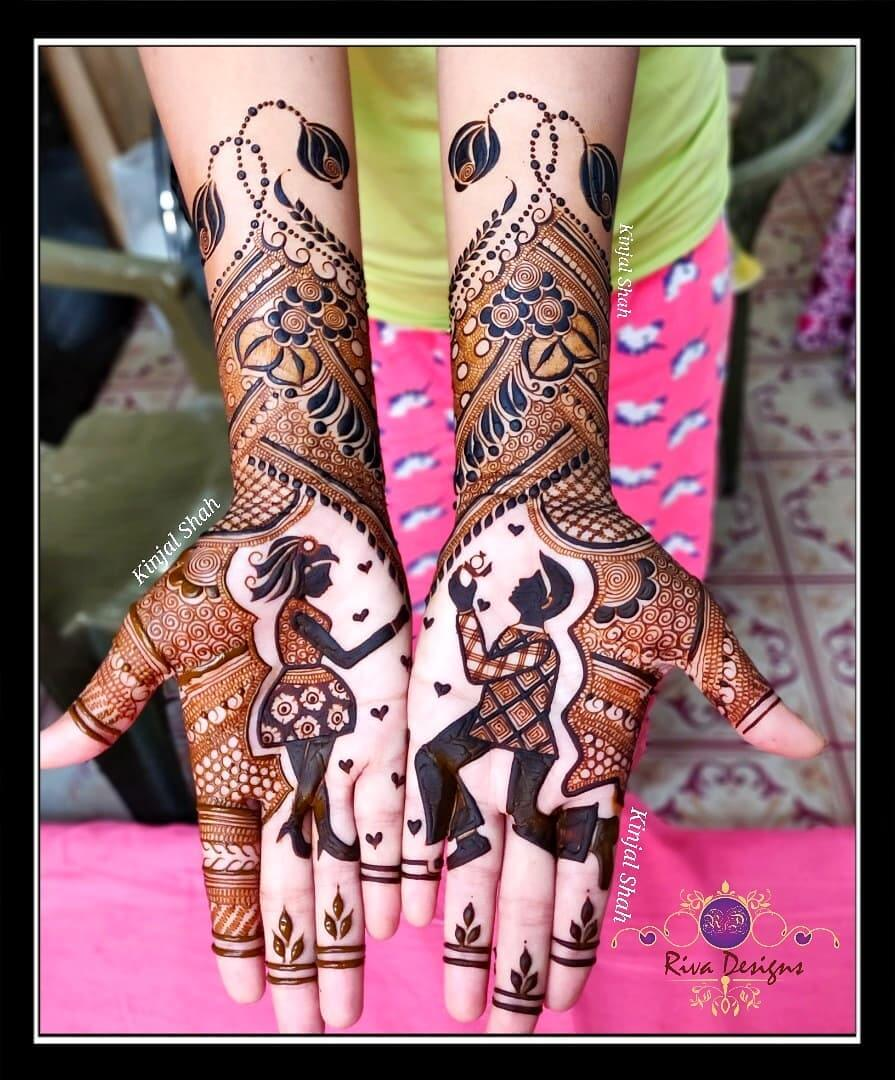 Intricate Designs With Leafy Motifs Front Hand Mehendi Designs For Engagement