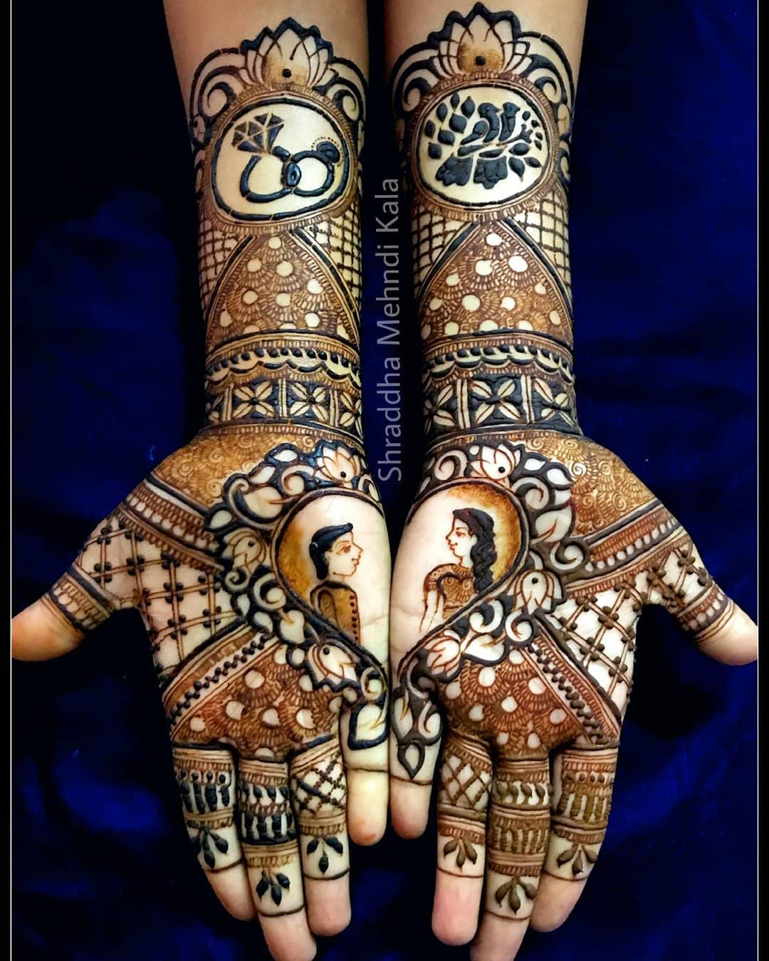 Heavy Bridal Mehendi For Engagement