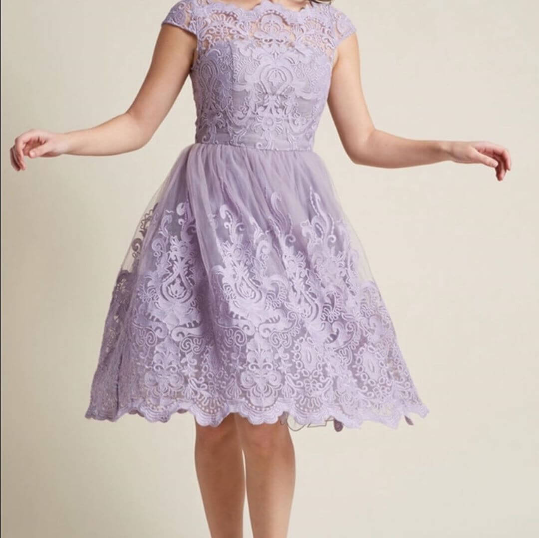 A Lavender Prom Dress Pastel Color Outfit