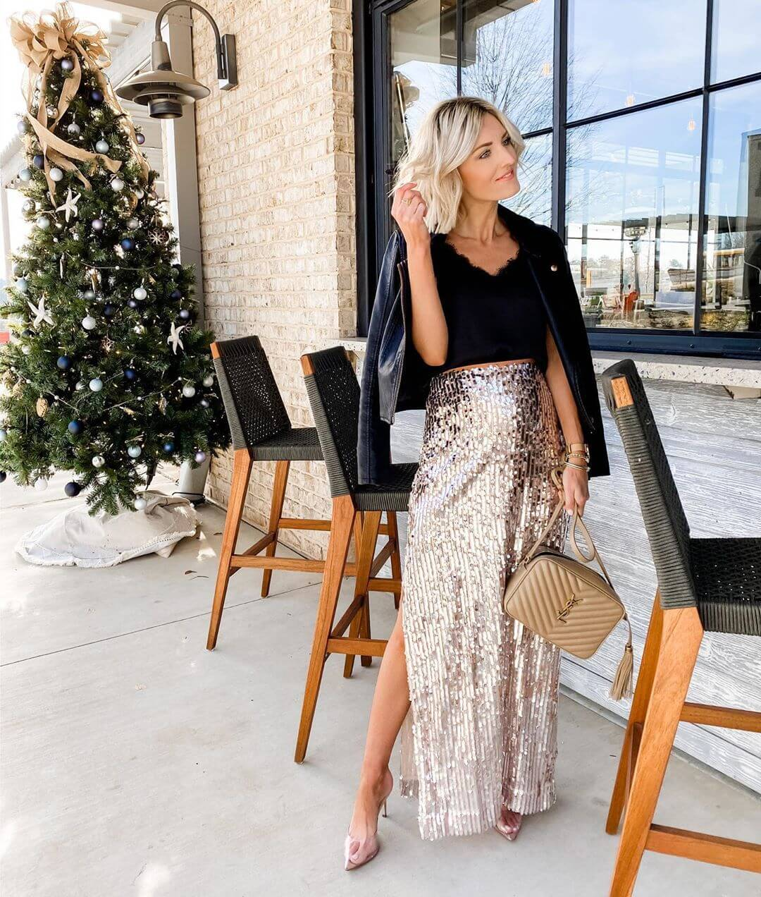 Sequin skirts for a casual day out fun with sequin