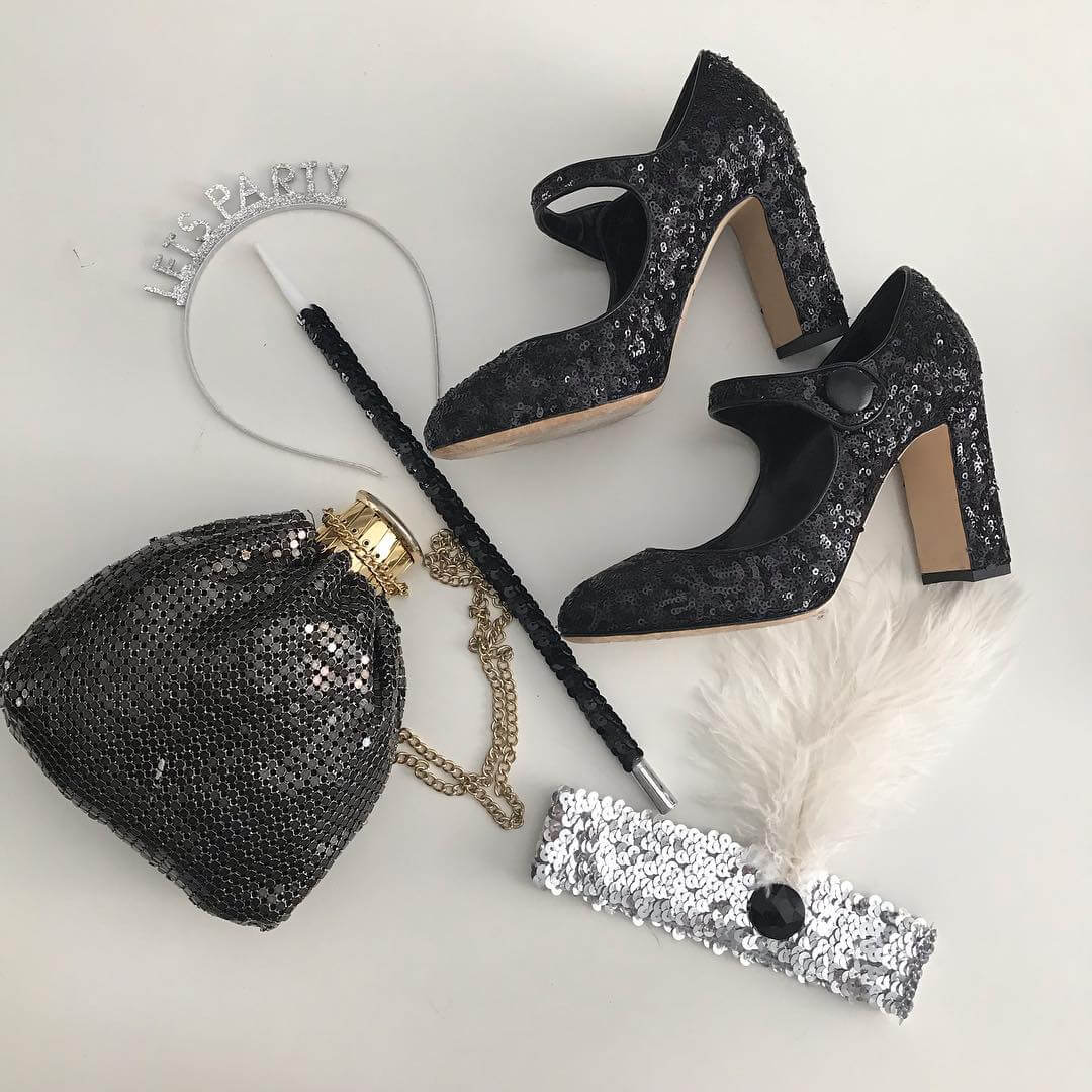 Sequin accessories to glam up casual outfits fun with sequin