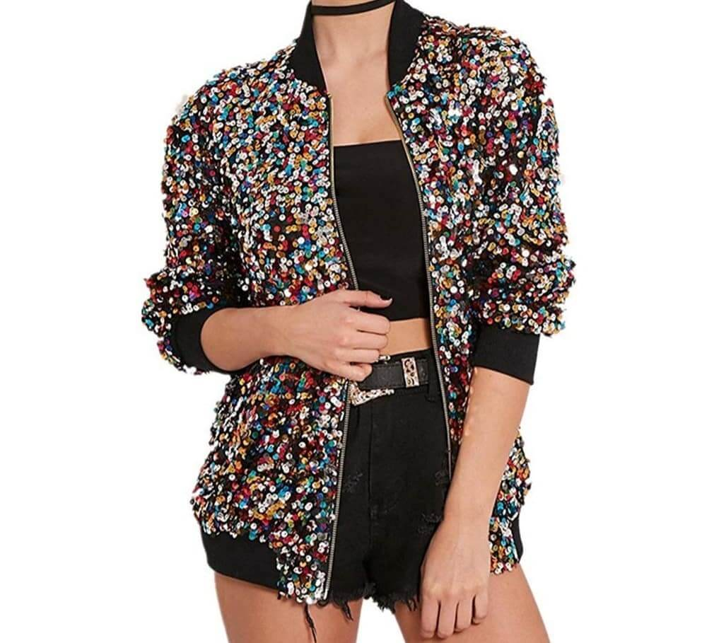 Sequin Jackets to rock a club night in winter fun with sequin