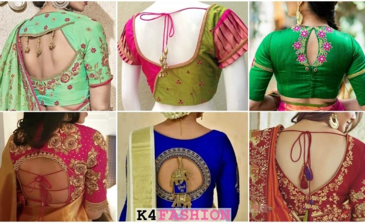 Evergreen and Trendy Saree Blouse Back Designs - Heavy work designer blouse