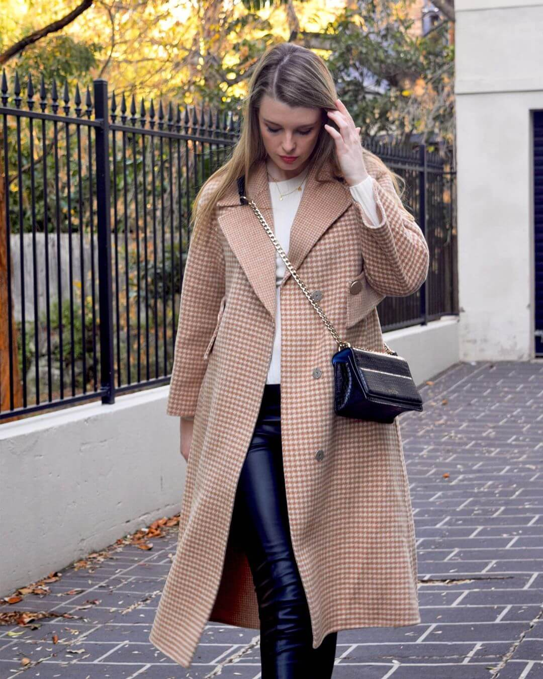 Wearing Leather Pants with Over Coats