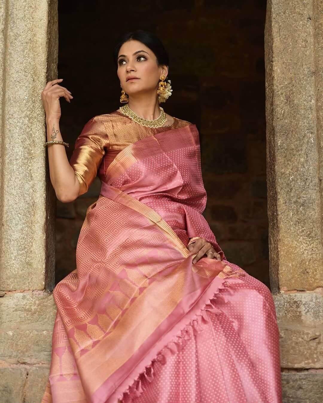 Indian Handloom Kanjeevaram Saree