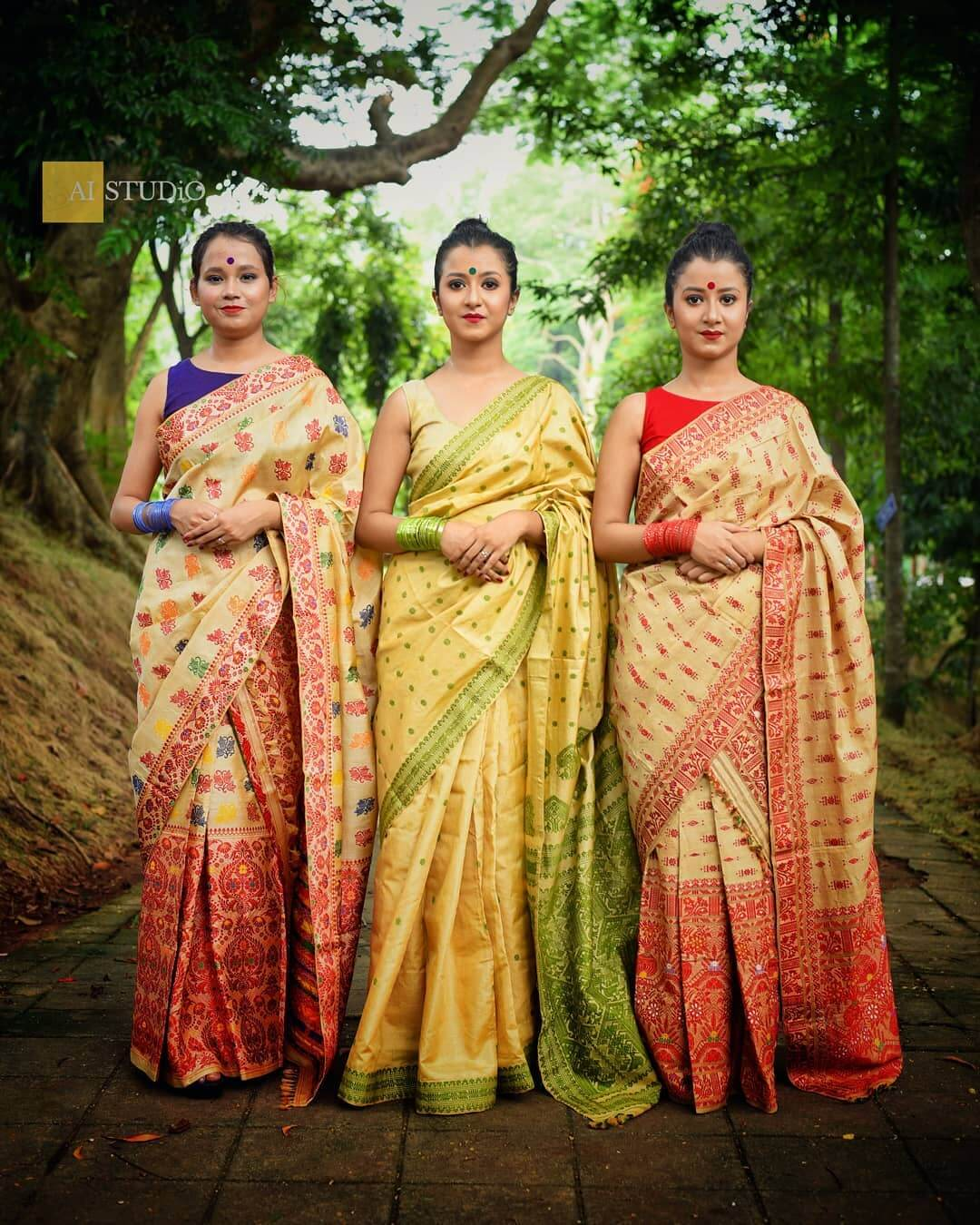 Indian Handloom Muga Silk Sarees
