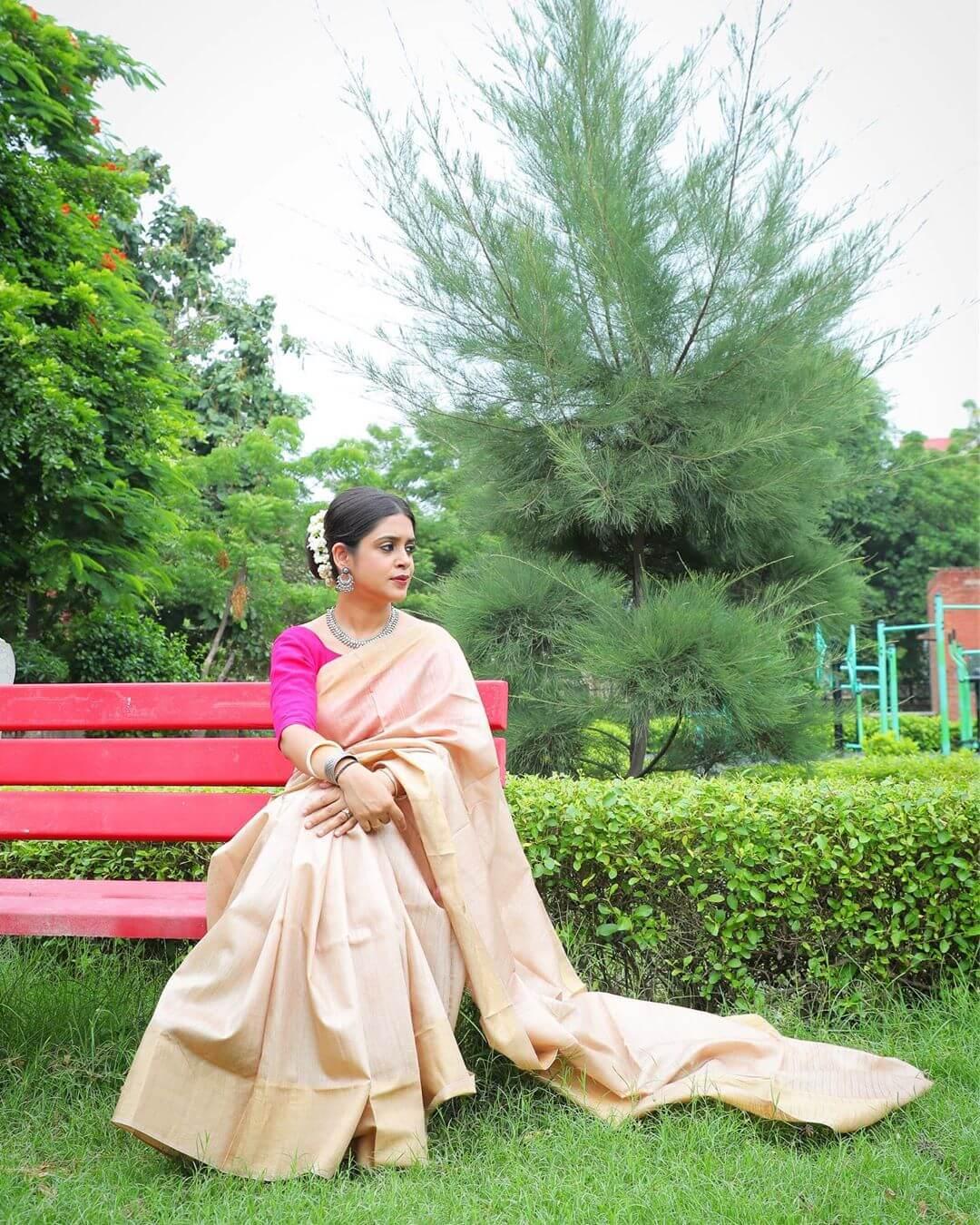 Indian Handloom Bhagalpuri Munga Tussar Saree