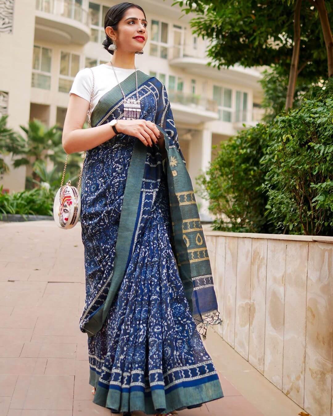 Indian Handloom Chanderi Saree