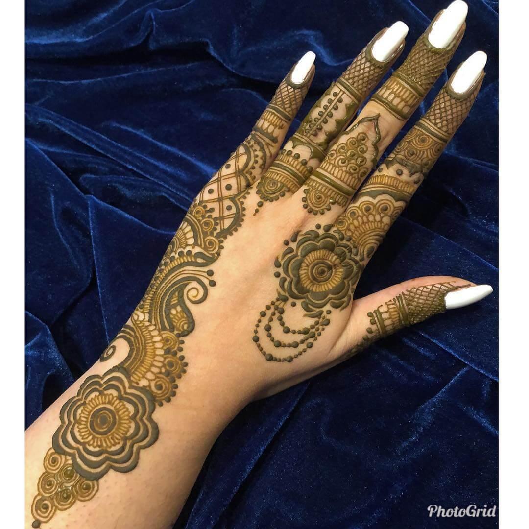 Statement kerala Mylanchi mehandi Designs For Back Hand