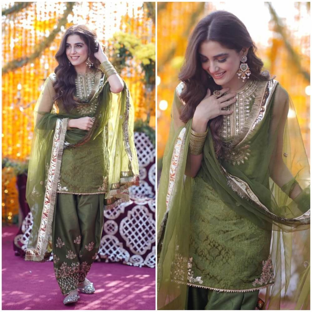 Making The Mehendi Memorable With A Green Patiala
