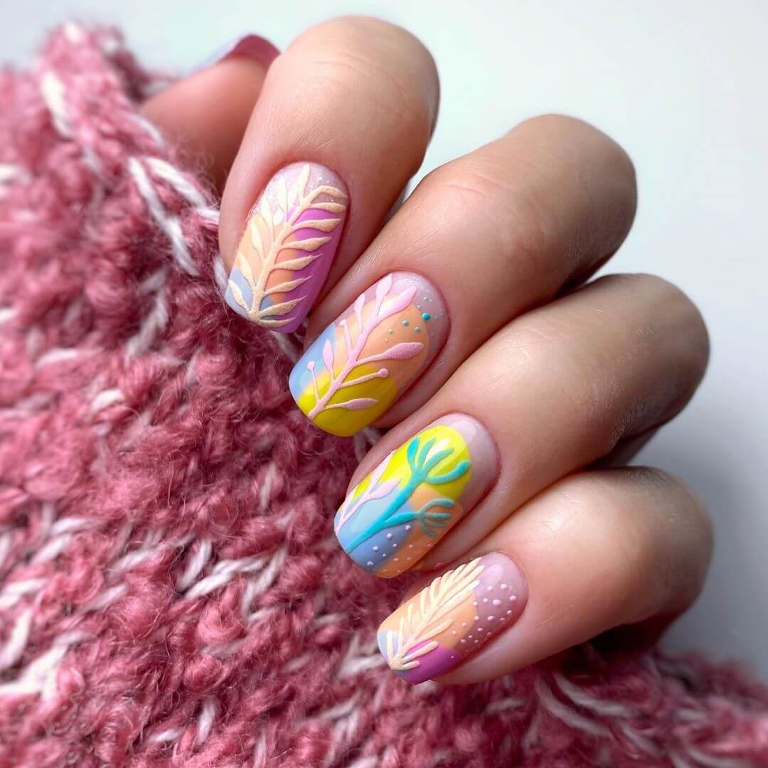 Fauna Enthusiast Nail Art For Medium Nails