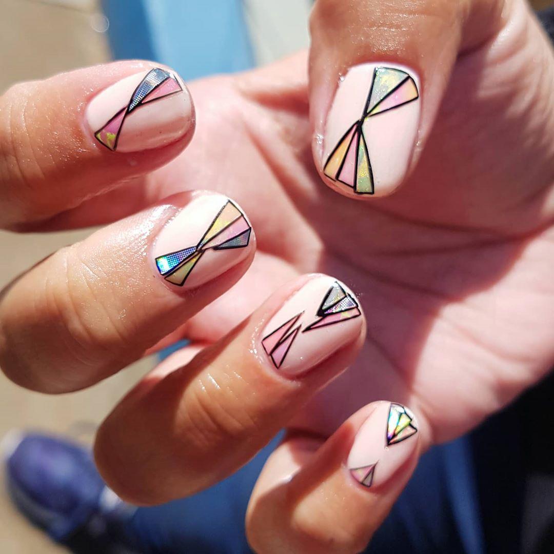 Geometric Nail Art For Short Nails For Short Nails