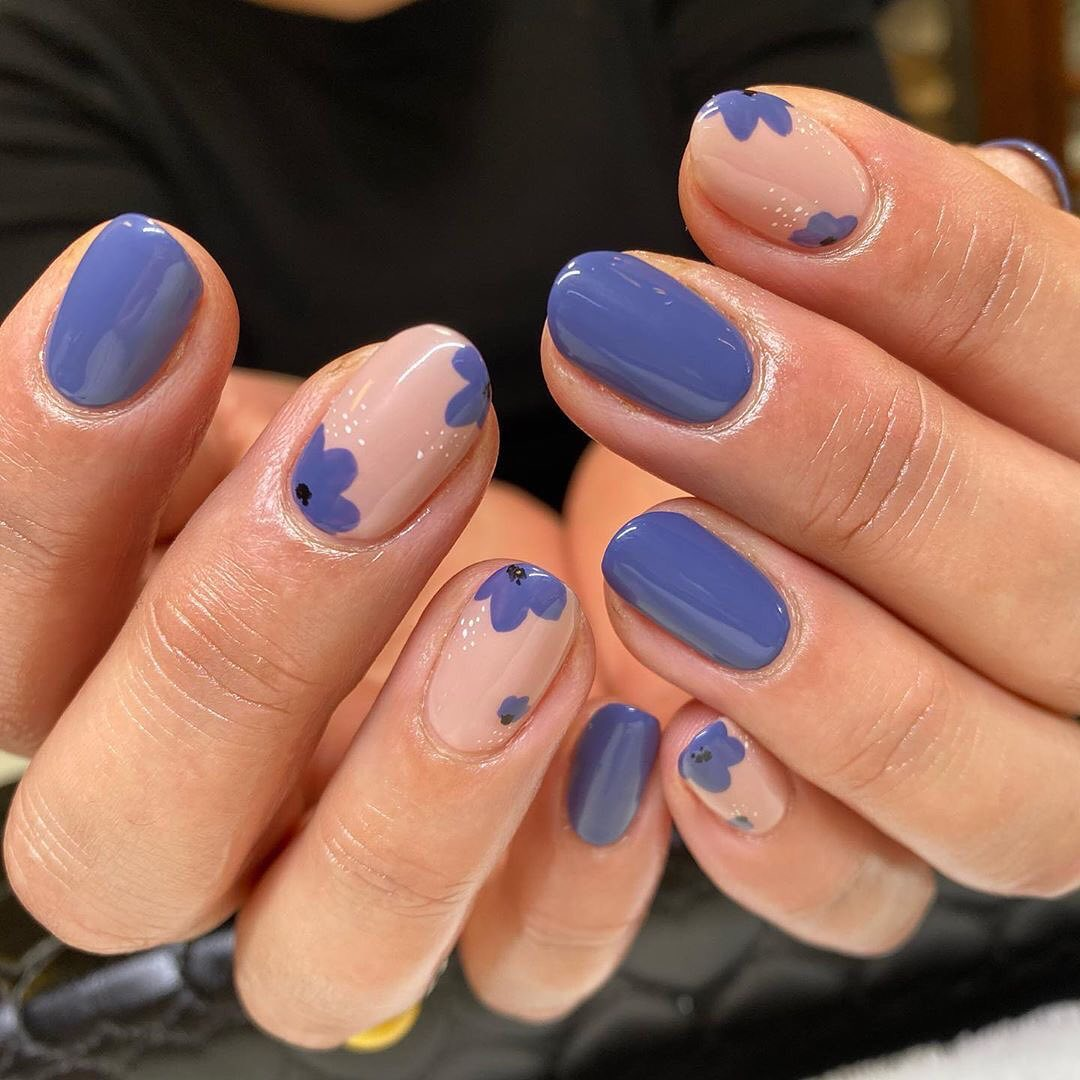 Blueberry Nail Art For Short Nails For Short Nails