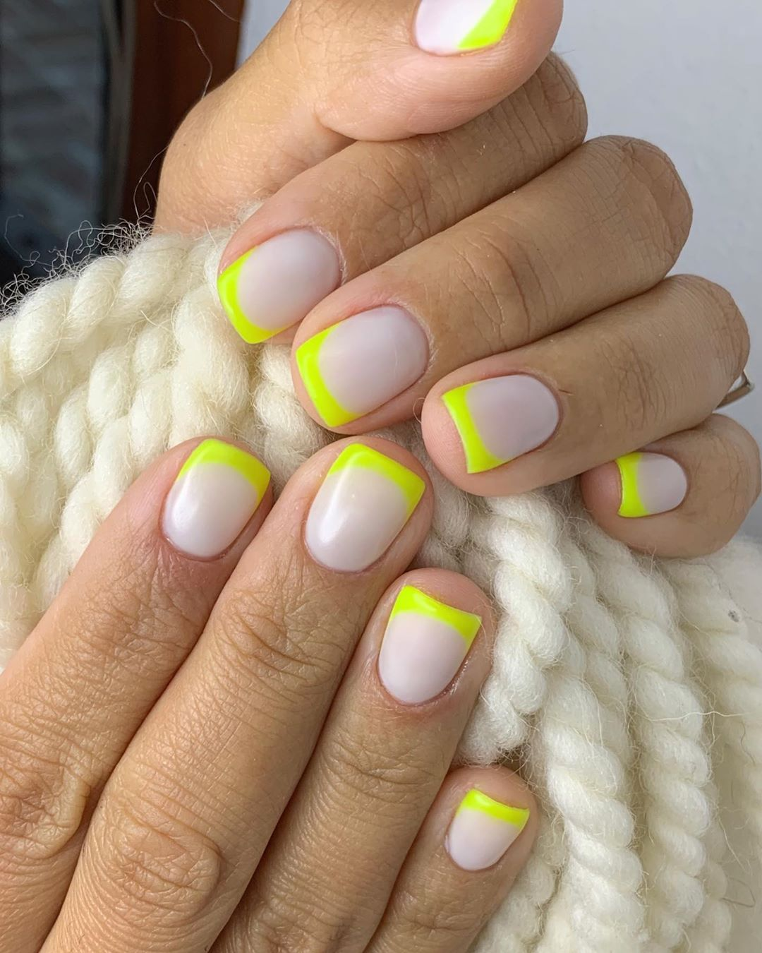 Neon French Tips For Small nails