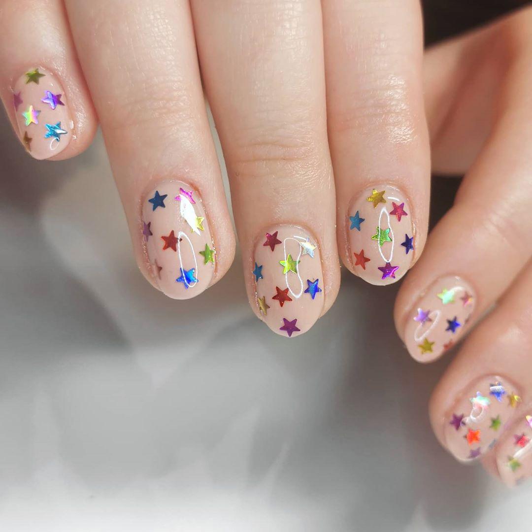 Star Nail Art For Short Nails For Short Nails