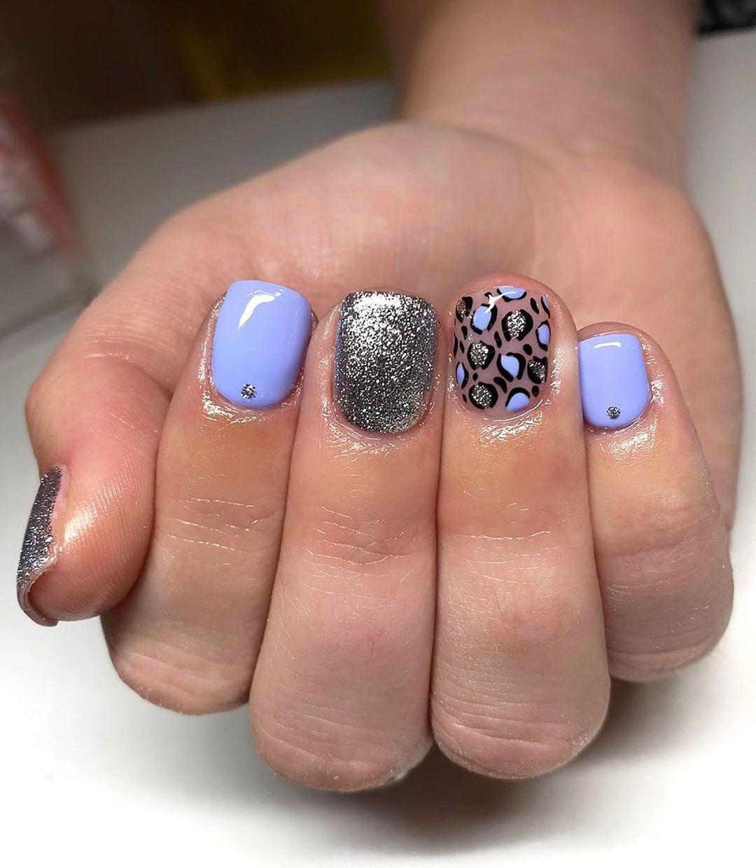 Leopard Print Nails For Short Nails
