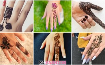Easy One Finger Mehndi Designs - Henna Finger Ideas