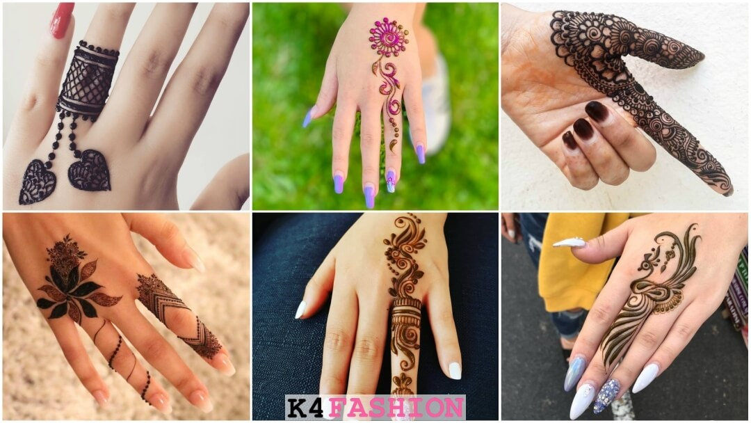 only one finger mehndi design