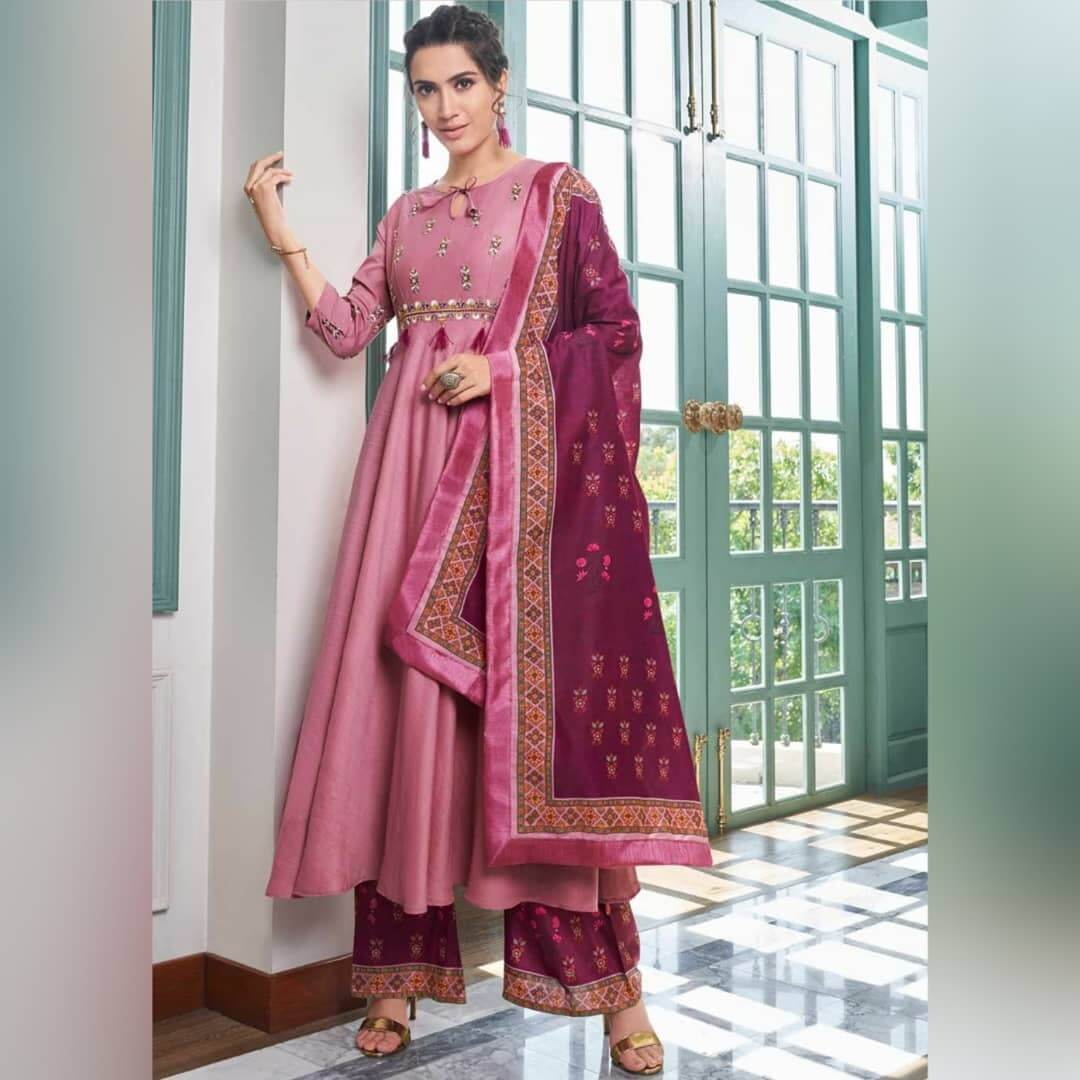 Frock Style Suit With Palazzo Pants For This Festive Season