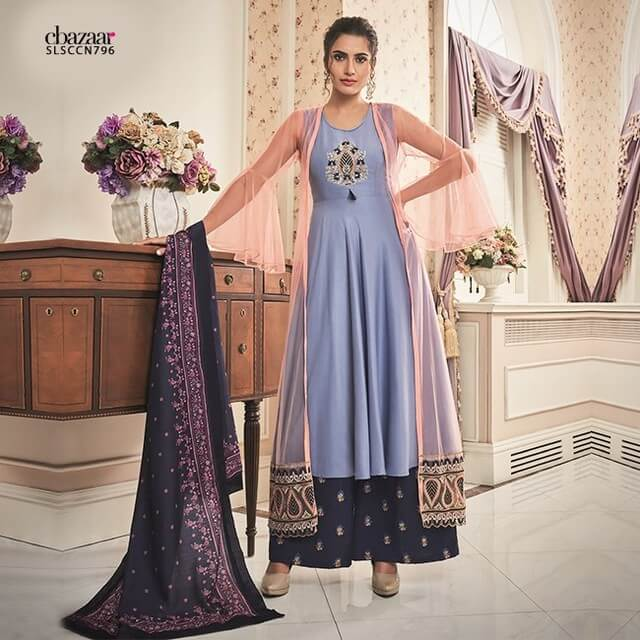 Palazzo Suits With Sheer Jacket For This Festive Season