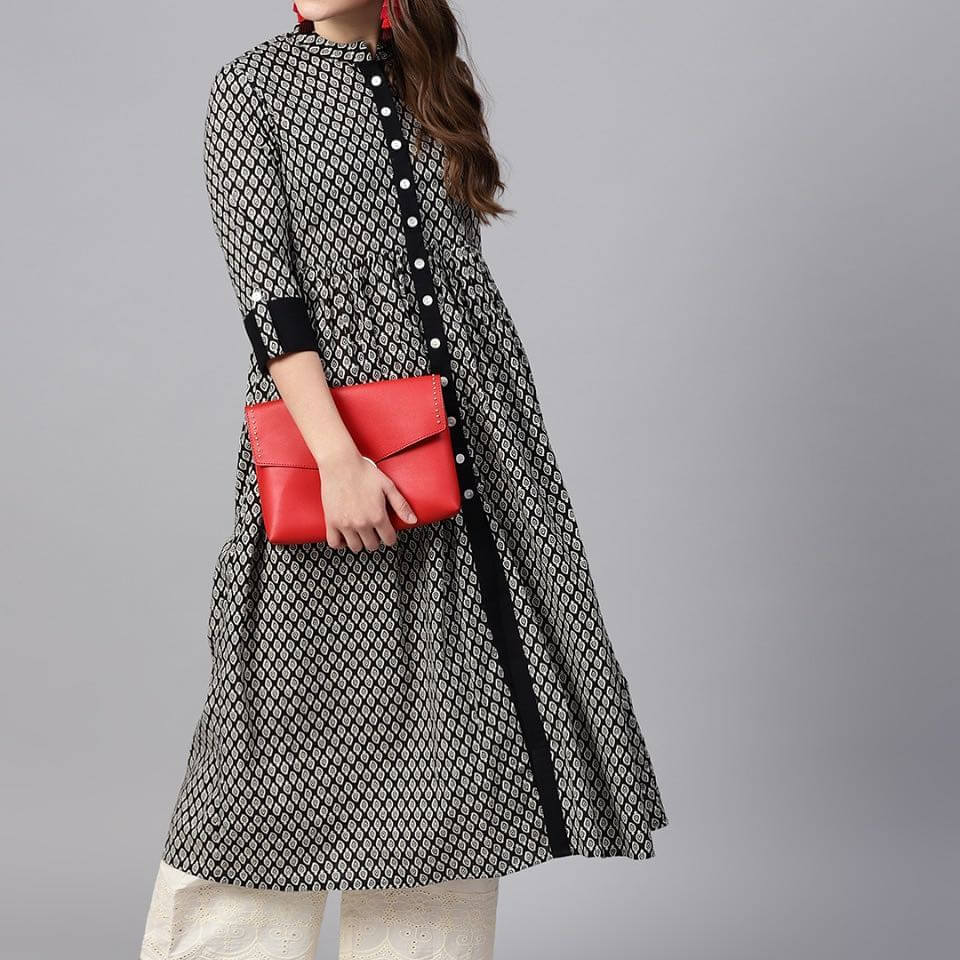 Button Down Palazzo Kurta For This Festive Season