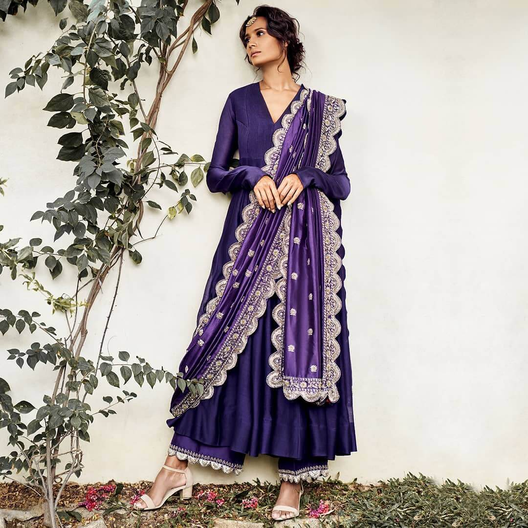 Chanderi Silk Palazzo Suit With Heavy Dupatta For This Festive Season
