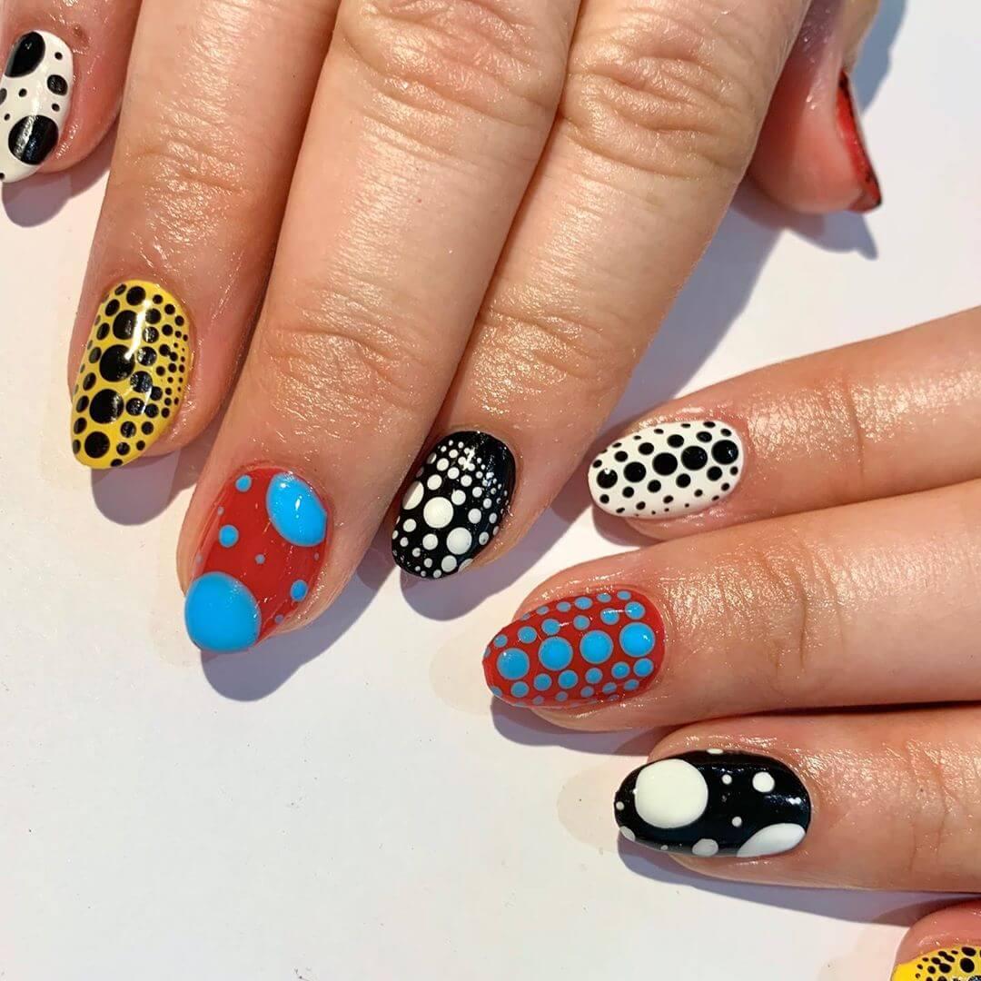 Art Basel Nails Polka Dot Nail Design