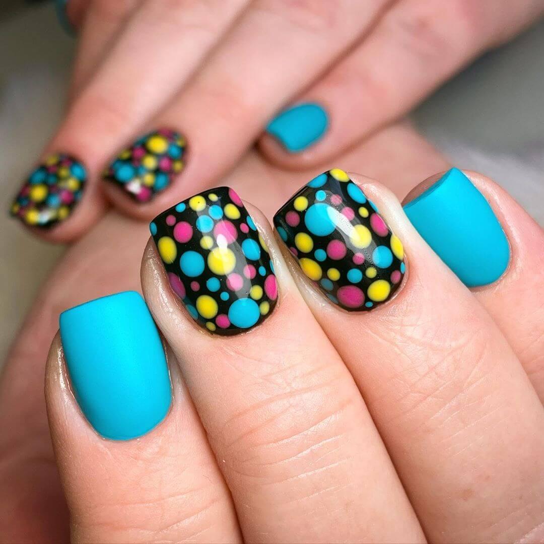 Adorable Polka Dot Nail Design