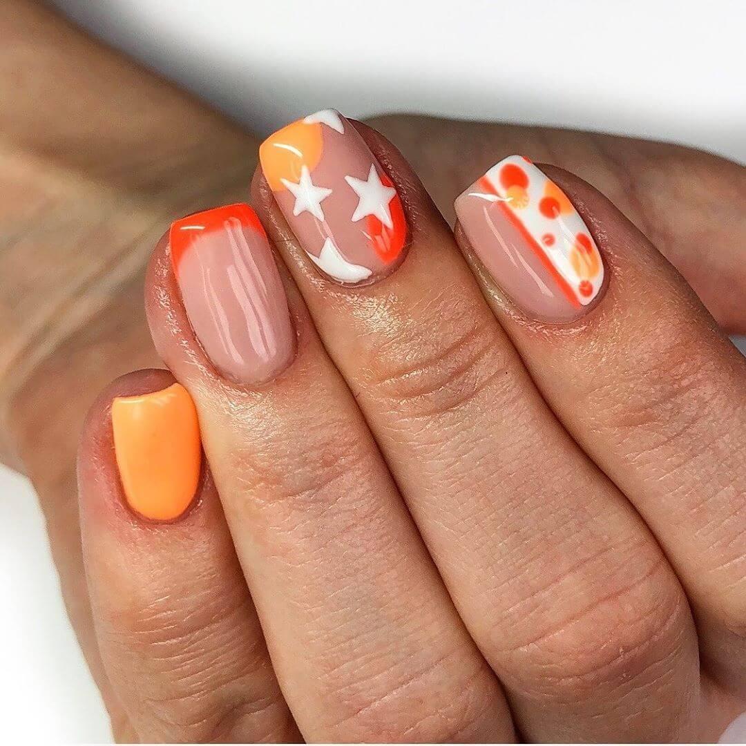 Funky and Cool Polka Dot Nail Design