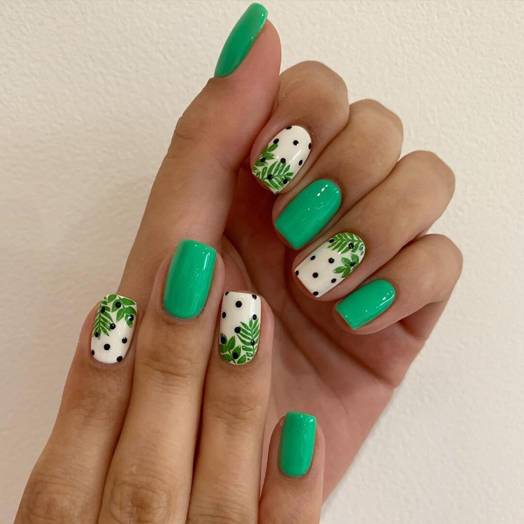 The Nature Lover Polka Dot Nail Design